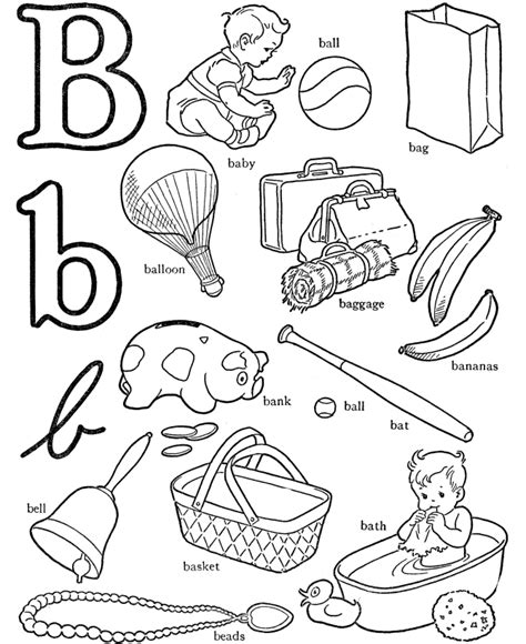 coloring pages of letter b letter b coloring page coloring home