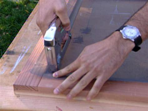 build  redwood screen door  tos diy
