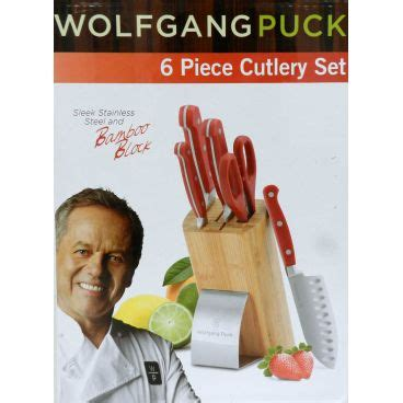 wolfgang puck kitchen knives wolfgang puck 6 piece cutlery set