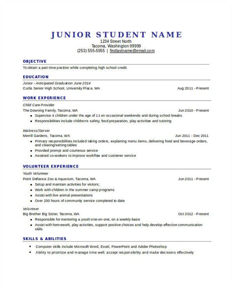 resume templates for highschool students pdf 45 resume templates pdf doc free premium templates