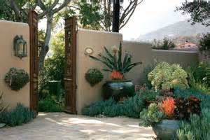 spanish courtyard designs montecito garden design