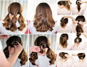 easy updos for hair step by step quick and easy hairstyles for short hair step by step