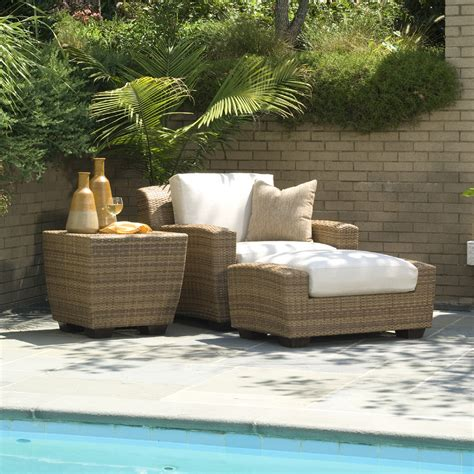 Saddleback Patio Furniture by Woodard Saddleback 3 Wicker Lounge Chair Set Wc