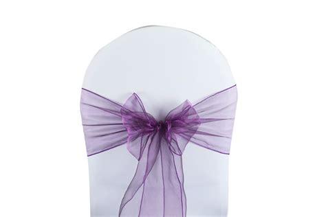 noeud de chaise violet noeud de chaise organza violet harmonie florale