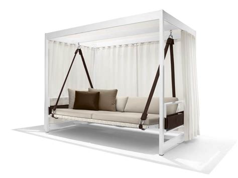 wooden canopy swing modern white stained wooden canopy swing day bed with