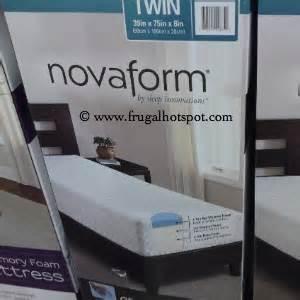 costco mattress sale costco deal sleep innovations novaform gel memory foam