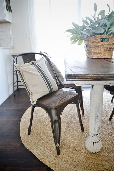 rustic metal  wood dining chairs furniture love