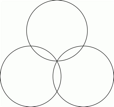 Printable Blank Venn Diagram Template Worksheet 3 Circle Venn Diagram Template
