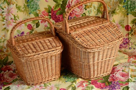 Handmade Picnic Baskets - handmade wicker picnic basket handmade willow basket picnic