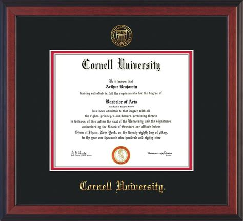 Cornell Pmp Mba by Cornell U Diploma Frame Che Lacquer W Cornell Seal