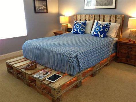 diy pallet beds with lights light pallets bed diy home design garden architecture magazine