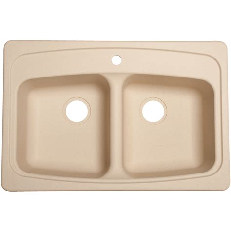 Franke Granite Kitchen Sinks Shop Franke Usa Basin Drop In Granite Kitchen Sink At Lowes