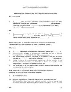 Proprietary Information Agreement Template fillable online agreement on confidential and proprietary