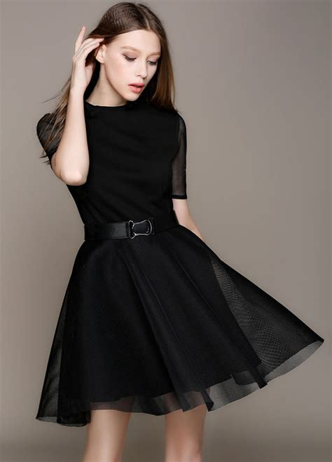 Sy1glsab74 Simple Casual Black White Dress Size S Size M Size L 124 fashion in black dress fashion and design