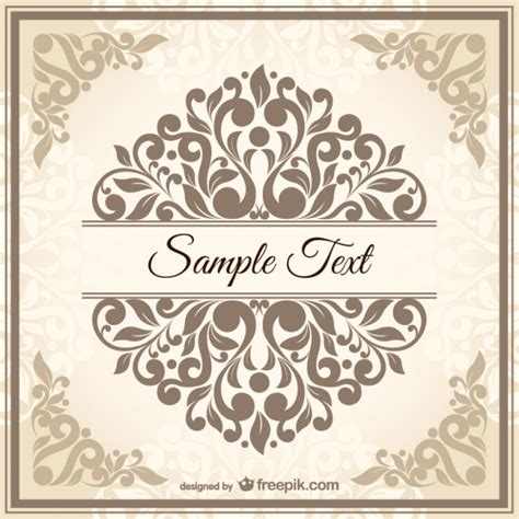 free vintage templates vintage damask style template vector free