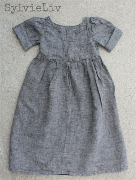 pattern linen free sylvie liv girls linen dress tutorial with link to free