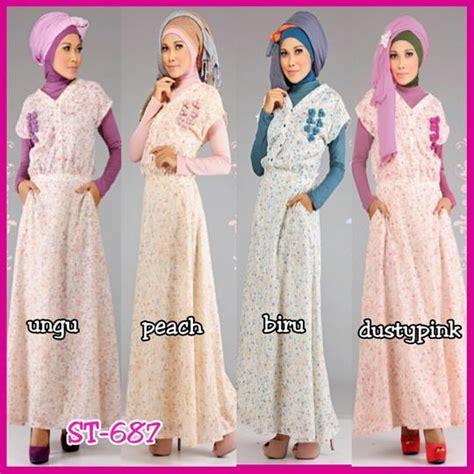 Kode Ready 6788 Bahan Katun Size Allsize M Fit To L Estimasi busan muslim cantik baju muslim terbaru abiti moslem style