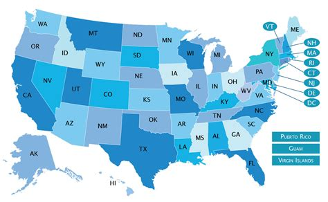 map of states usa states map mappery