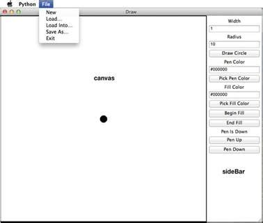 layout canvas python implementing a gui with tkinter data structures and