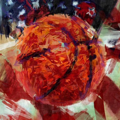 Wallpaper Home Decor usa flag and basketball abstract digital art by david g paul