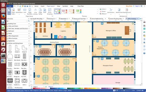 Office Layout Software office layout software for linux make office planning simply