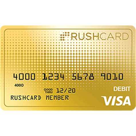 free rushcard prepaid visa debit card plus 30 bonus