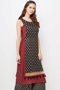double pattern kurti classic mughal print check out this double layered