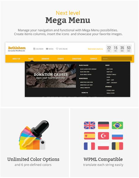 megacolor 25 years of megamurals the coloring book books bethlehem church bootstrap 3 html5 template by