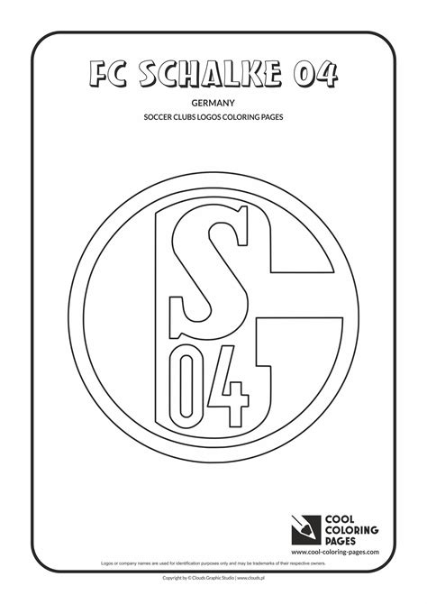 fc schalke  logo coloring coloring page  fc