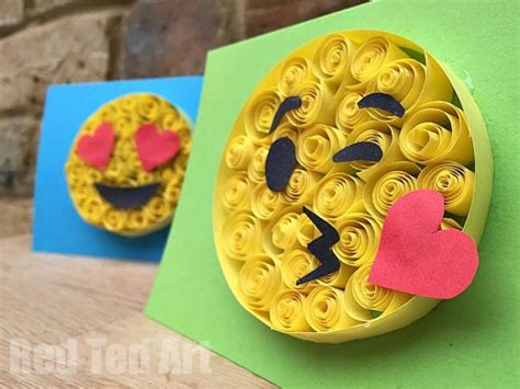 How To Make Quilling Paper Strips At Home - easy paper quilling emoji cards ted s