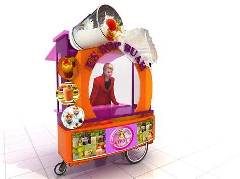 desain gerobak es jus gerobak es buah soup buah jasa pembuatan gerobak desain