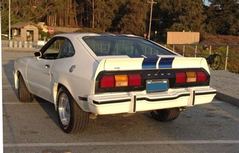 mustang ii rear spoiler oxford white 1978 ford mustang ii king cobra hatchback