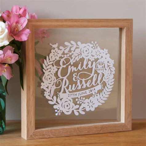 personalised wedding anniversary papercut by sas creative notonthehighstreet