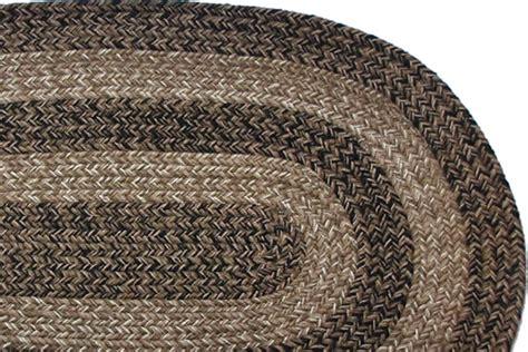 Black Braided Rugs by Ohio Charles Black Brown Braided Rug