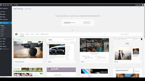 themes wordpress youtube intact wordpress theme how to install the theme via