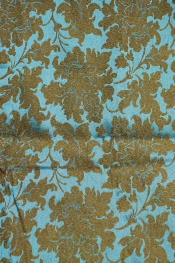 upholstery fabric vintage 1950s 60s vintage brocade upholstery fabric aqua blue w