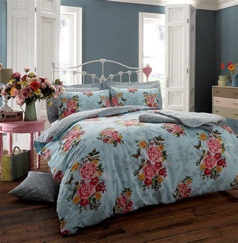 Beautiful Quilts For Beds Beautiful Printed Duvet Quilt Cover Pillowcase Bedding