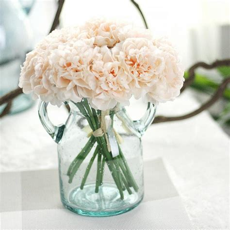 36 Pcs Artificial Silk Hydrangea Flower Floral Wedding 5pc Set Artificial Silk Flowers Peony Floral Wedding Bouquet Bridal Hydrangea Flores