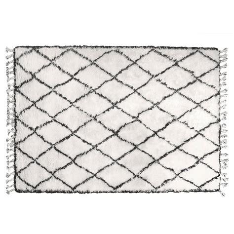 schwarz weiß teppich hk living teppich l 228 ufer berber mit fransen baumwolle