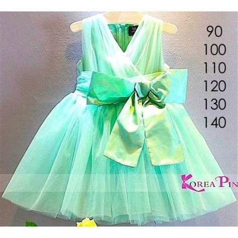 Murah Helm Anak Mds The Frozen Minnie Mouse Dll dress gaun korean green kp315 baju anak impor babies dresses and green