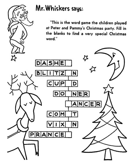 Christmas Coloring Pages With Names | christmas activity sheets for kids coloring home