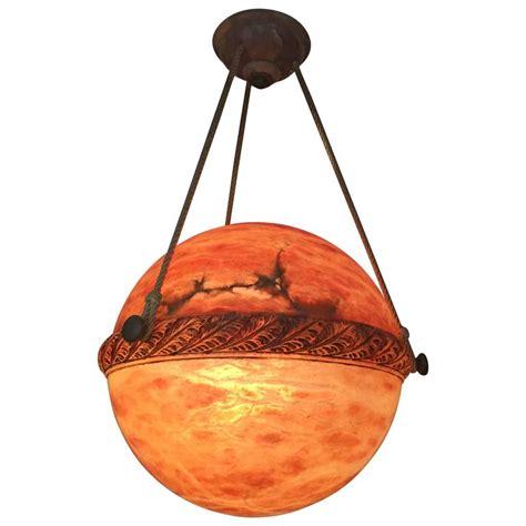 alabaster globe style chandelier for sale at 1stdibs