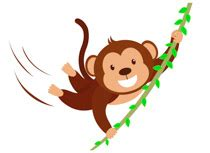 monkey swinging clipart free monkey clipart clip art pictures graphics