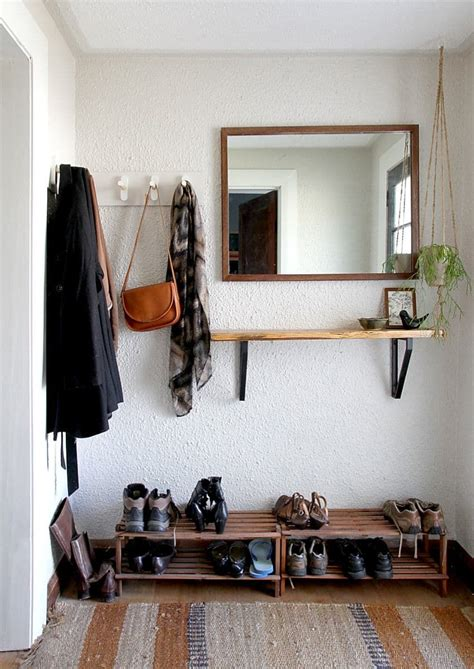 coat closet shoe storage entrywaygoals when storage is tight and there s no coat
