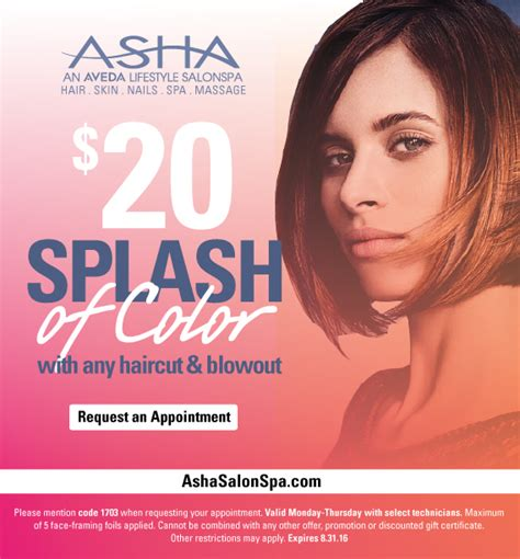haircuts bucktown chicago asha salonspa chicago aveda salonspa promotions deals