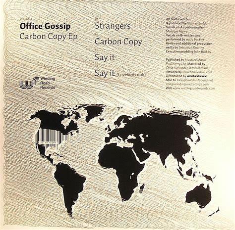 office gossip house music office gossip carbon copy ep vinyl at juno records