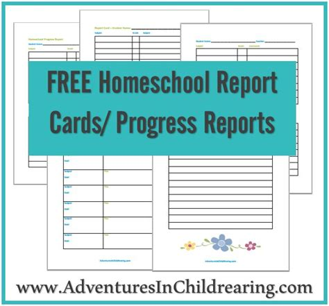 free report card template scribus free homeschool printable progress report and report card