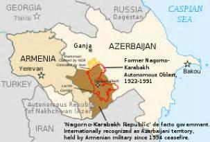 map of armenia and azerbaijan armenians in azerbaijan