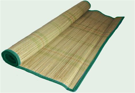 180 x 75cm deluxe straw mat rug roll up travel