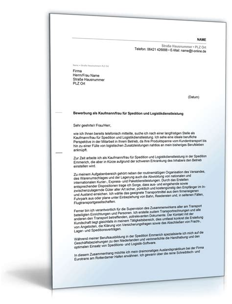 Bewerbung Ausbildung Speditionskaufmann Muster Anschreiben Bewerbung Speditionskaufmann Muster Zum